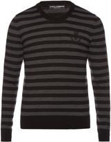 Dolce & Gabbana Striped crew-neck wool sweater