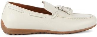 Aquatalia Richard Pebbled Leather Penny Loafers