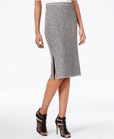 Kensie Mariner Ribbed Pencil Skirt