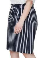 Junarose Plus 318 Domias Stripe Knee-Length Skirt