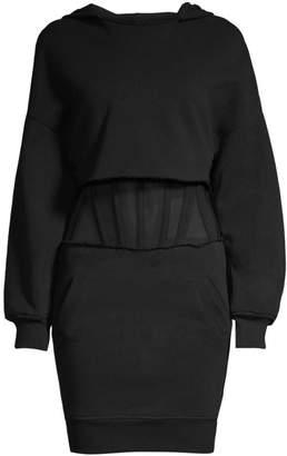 RtA Bailey Corset Sweatshirt Dress