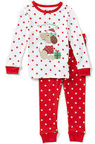 Little Me Baby Girls 12-24 Months Christmas Puppy-Appliqued Pajama Top & Pants Set