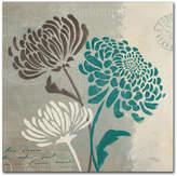 "Trademark Global Wellington Studio 'Chrysanthemums Ii' 18"" x 18"" Canvas Wall Art"