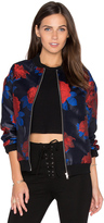 Endless Rose Floral Bomber Jacket