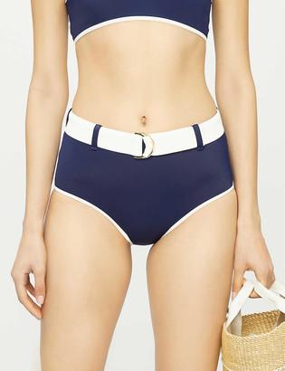 ODYSSEE Azur high-rise belted bikini bottoms