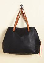 ModCloth Minutes Turn to Sections Bag in Black