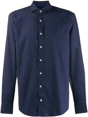 Hackett petal-pattern slim shirt