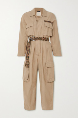 R13 - Abu Belted Cotton-canvas Jumpsuit - Beige