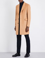 Paul Smith Peak lapel wool and cashmere-blend coat