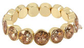 Betsey Johnson Patina Faceted Stone Stretch Bracelet