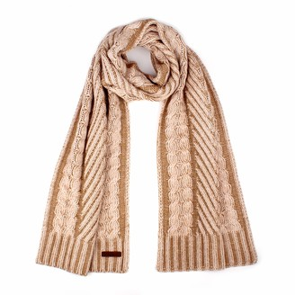 Timberland Womens Timberland Plaited Cable Scarf Cameo Rose