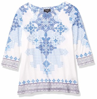 Colourworks Colour Works Women's Long Sleeve Tile Print Pullover