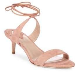 Aperlaï Ankle Wrap Kitten Heel Sandals