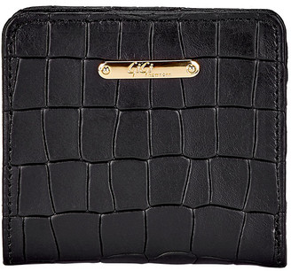 GiGi New York Mini Crocodile-Embossed Leather Folding Wallet