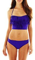JCPenney a.n.a® Fringe Midkini Swim Top or Hipster Bottoms