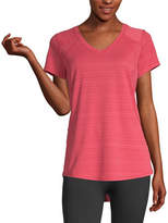 Xersion Womens Crew Neck Short Sleeve T-Shirt Petite