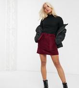 Asos DESIGN Petite utility pocket cord A line mini skirt with belt