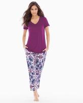 Soma Intimates Ankle Pants Pajama Set Agora Henna Plum