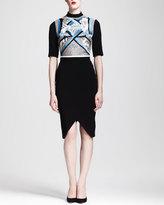 Peter Pilotto Embroidered Split-Skirt Dress