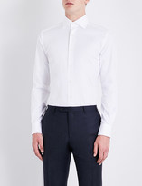 Corneliani Slim-fit cotton-twill shirt