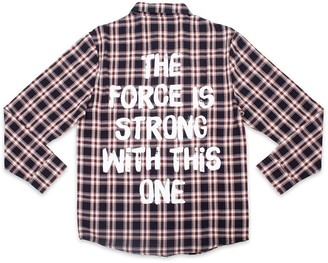Disney Darth Vader Flannel Shirt for Adults by Cakeworthy Star Wars