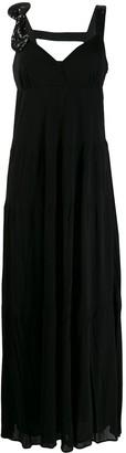 Class Roberto Cavalli Sequinned Bow Maxi Dress
