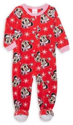 AME Sleepwear Little Girl's Minnie Mouse Footie