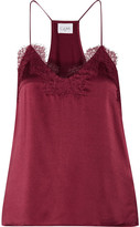 Cami NYC - The Racer Lace-trimmed Silk-charmeuse Camsiole - Burgundy