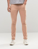 Asos Extreme Super Skinny Jeans In Light Pink