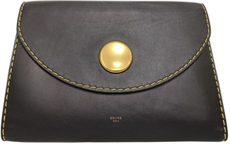 Celine Navy Leather Clutch bags