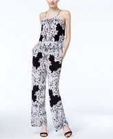 INC International Concepts Petite Lace-Print Jumpsuit, Created for Macy's