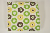 Bacati Mod Dots/Strps Green Quilted Sheet by