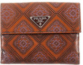 Prada Print Chic Compact Wallet