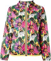 No.21 floral print hooded jacket - women - Polyamide - M