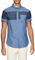 Jachs Color Block Chambray Button-Down Sportshirt