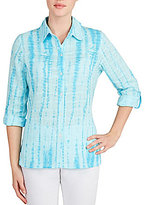 Allison Daley Tie Dye Button Front Blouse