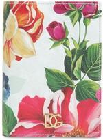Dolce & Gabbana PRINTED LEATHER PASSPORT HOLDER