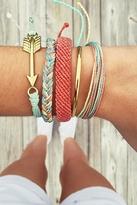 Pura Vida Gold Bar Bracelet in Aqua