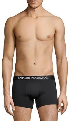 Emporio Armani Logo-Waist Boxer Briefs