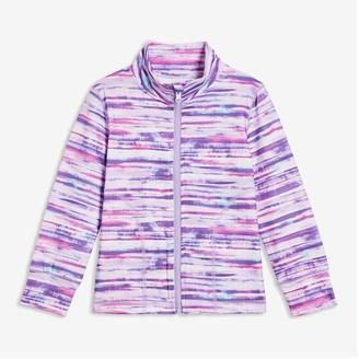 Joe Fresh Toddler Girls' Active Zip-Front Top, Pink (Size 3)