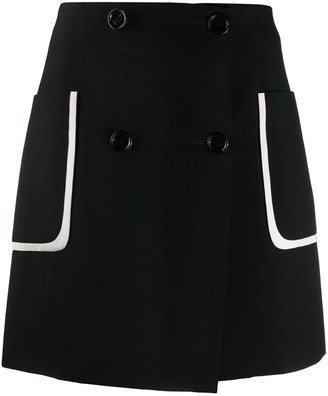 Fendi Contrast Pocket Buttoned Skirt