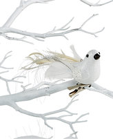 Holiday Lane White Clip On Bird Tree Ornament, Created for Macy's
