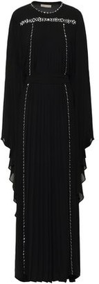 MICHAEL Michael Kors Cape-effect Crystal-embellished Georgette Gown