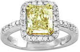 Zales 2-1/4 CT. T.W. Radiant-Cut Yellow and White Diamond Engagement Ring in 18K White Gold (SI2)
