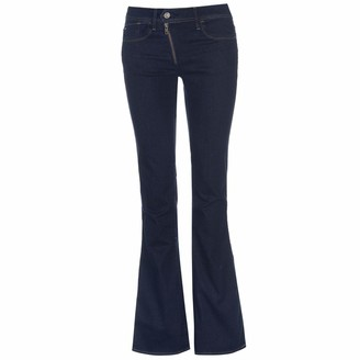 G Star Women's Lynn Zip High Rise Flare Leg Jean