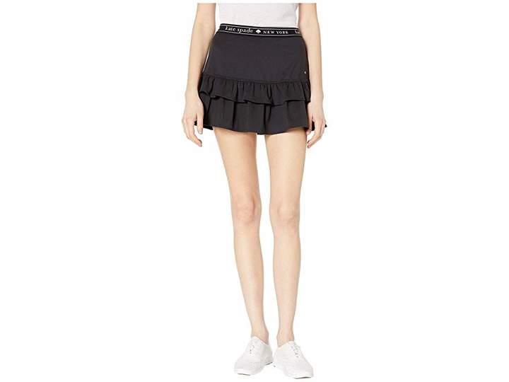 Athleisure Logo Ruffle Skirt
