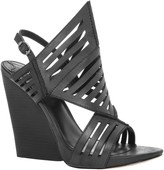 Max Studio Euthalia - Cage Sandals On Wood Stacked Wedge