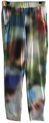 Andrea Crews Multicolour Cotton Trousers