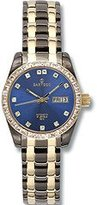 Sartego Women's SCMB66 Classic Analog Metallic Blue Face Dial Two-Tone Swarovski Watch