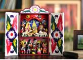 Novica Collectible Peruvian Wood Retablo Nativity Set